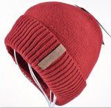 Men's Skullies Winter Wool Knitted Hat Male Brand Beanies Cap Casual Solid Color Sets Headgear Hats For Men