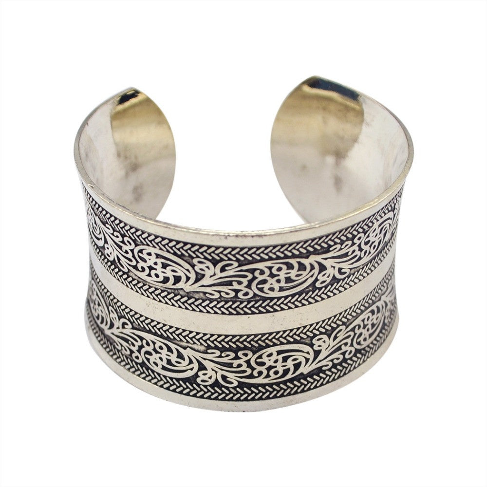 Hot Fashion Bohemian Silver Bracelet Vintage chains Gypsy maxi Women statement Jewelry Wholesale