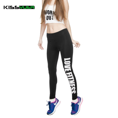 02aaa50aeaf7b KISSyuer Work out Love fitness Just do it workout printed leggings gun for  Women Fitness Legging ...