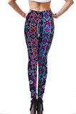 Yomsong 2016 Hot Leggings Women Printed Leggings Black Leggings Women Travel Vacation Sexy Pants Flower Print Leggings 150