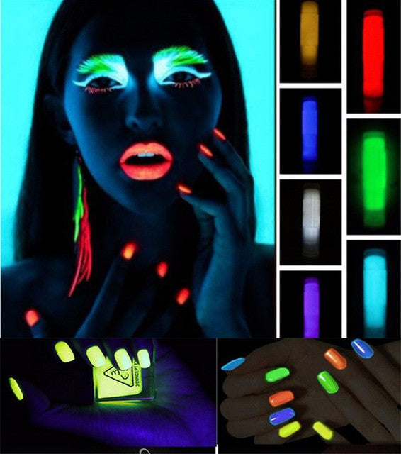 10g glitter Phosphor Coating DIY nail art Photoluminescent Dust Glow in Dark luminous Noctilucent fluorescent Powder Pigment