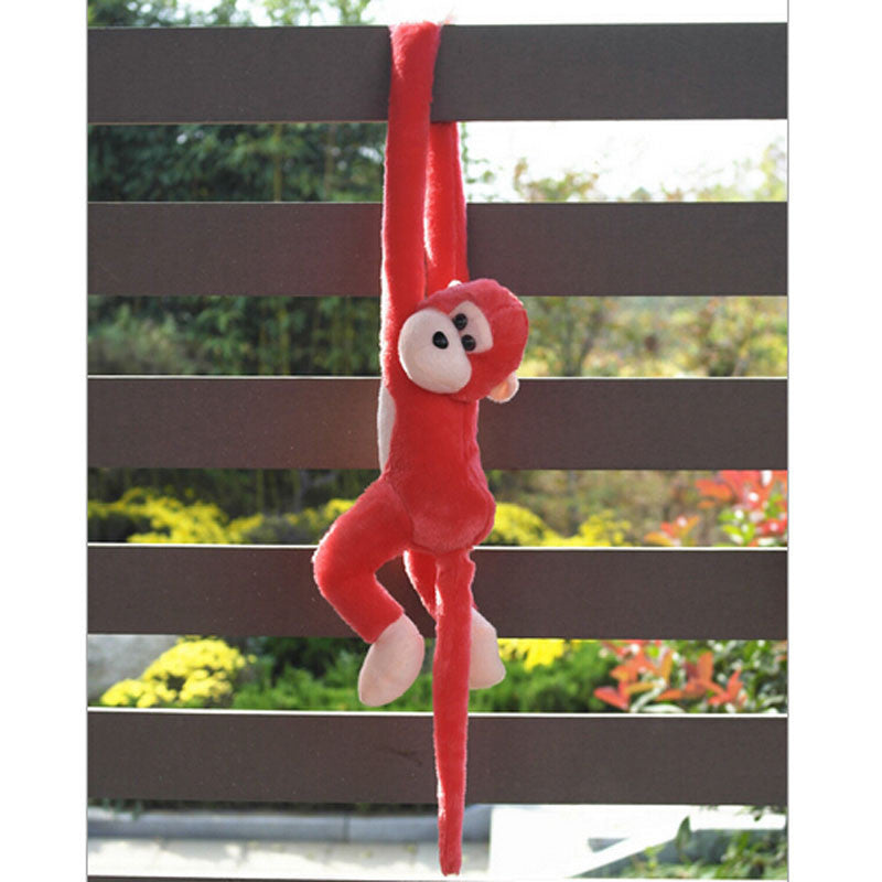 HOT Cute Screech Monkey Plush Toy Doll Doll Gibbons Kids Gift Red AUG 31