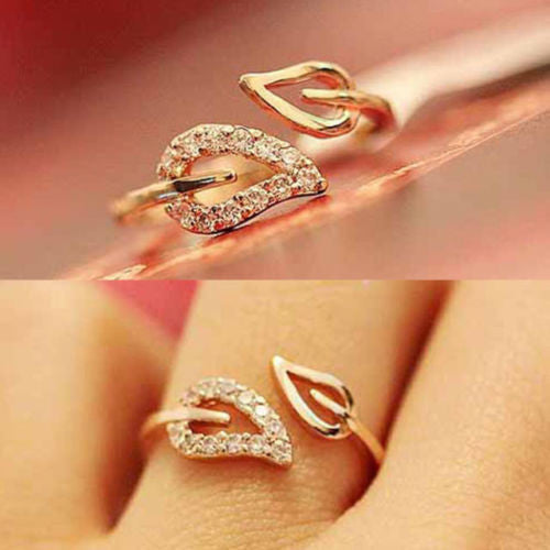 Crystal Drill Lover Rings