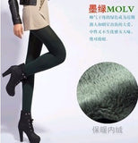 2016 Autumn Winter Fashion Explosion Models Plus Thick Velvet Warm Seamlessly Integrated Inverted Cashmere Leggings Warm Pants