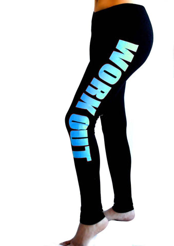 ecdceeb18749a ... KISSyuer Work out Love fitness Just do it workout printed leggings gun  for Women Fitness Legging ...
