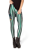 SexeMara Mechanical Bone Skull Digital Print Black Leggings Fashion Women Rousers Gothic Creative Slim Fitness Sexy Pants BL-053