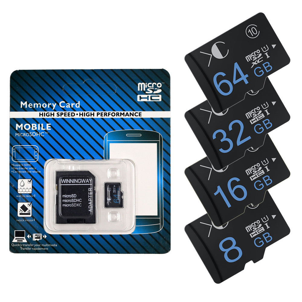 Hot sale 2016 new XC brand Memory Card Micro SD Card 4GB -64GB Microsd TF card Flash memory with  Adapter XC-PPTF-04