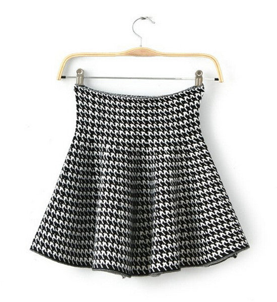 Women Pleated Mini Skirts Mercerized Cotton Bandage High Waist Skirts Vintage Casual Knitted Stretch Skirt For Autumn Winter
