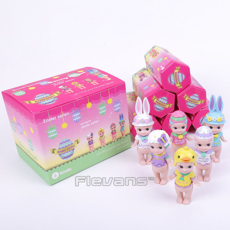 Sonny Angel Mini Figures Easter Series 6pcs/set Sonny Angel Collectible Model Toys Christmas & Brithday Gift for Children Boxed
