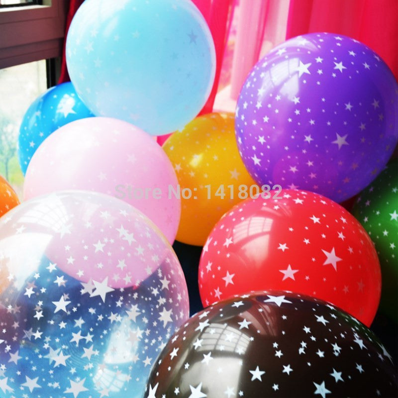 10pcs 12 inch thick 2.8g Romantic Five-pointed star Balloons Latex baby birthday Party Decoration Wedding Supplies Free Shopping