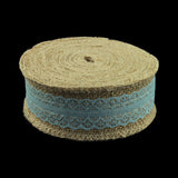 Christmas Deco 10M Natural Jute Burlap Hessian Ribbon with Lace Trims Tape Rustic Party Decor wedding cake topper