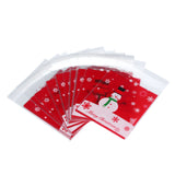 100PCS OPP Bags Christmas Snowman Cake Gift Candy Bags Wrapping Paper U6806