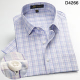 2016 NEW Men's short sleeve dress shirts spring summer casual plaid shirt men Fashion bussines cotton shirts for man large size