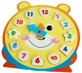 3D Puzzle Wooden Toys Children's Educational Toy With Cartoon Pattern Digital Geometry Clock Baby Boy Girl Gift VBF76 P15 0.5