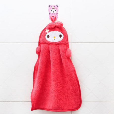 Lovely Cartoon Children Hand Dry Towel For Kids Kitchen Bathroom Kid Soft Plush Fabric Hang Towel For Children Towels