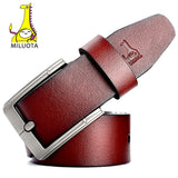 [MILUOTA] 2016 Fashion Designer Belts Men High Quality Cow Genuine Leather Strap Man Belt MU065