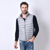SYT 2016 Brand male Vest Jacket Winter Men Down Coat Light 90% Down  Vest Short Slim Down Men Vest YDL05