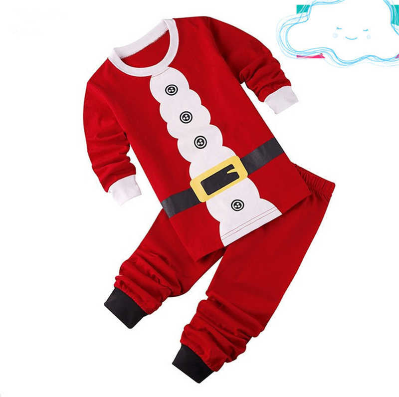 2016 New Baby Christmas Clothes Sets Santa Claus Suit Bebe Brand Clothing Set Tops+Pant 2pcs Boys Christmas Costume Kids Clothes