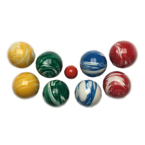 107mm tournament marbleized bocce ball set - Bocce Set