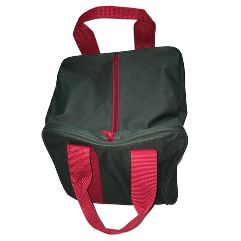 Bocce Ball Bag - Green with Maroon Handles