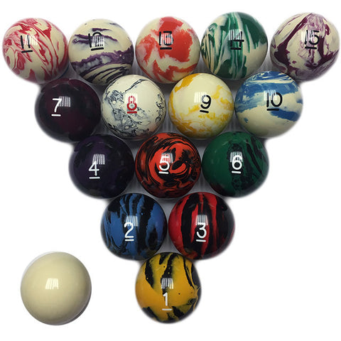 Marbelized Billiard Set