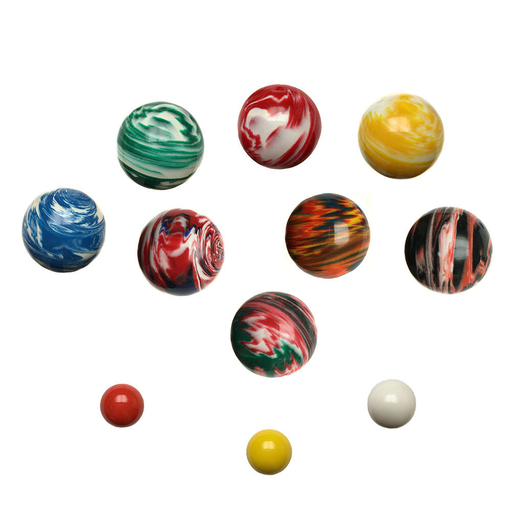 107 mm tournament marbleized mix bocce ball set - Bocce Set