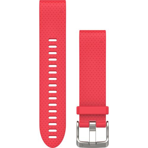 Garmin QuickFit 20mm Azalea Pink Silicone Band