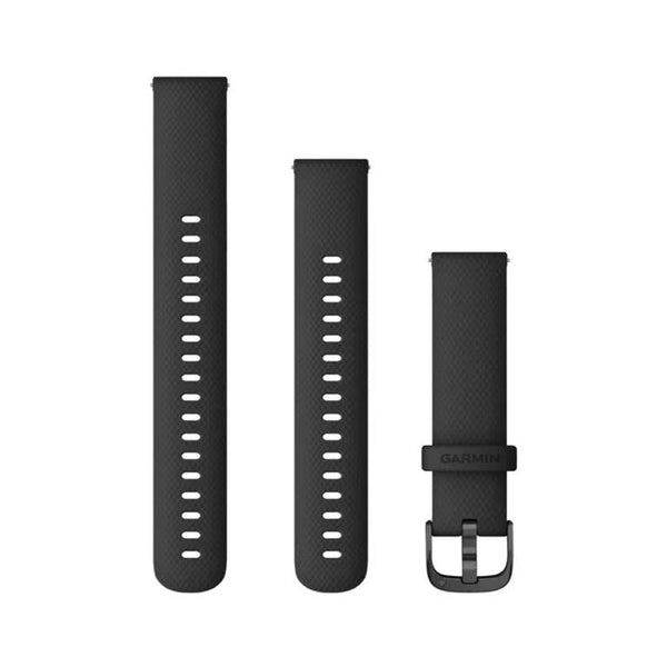 Garmin Quick Release Band, Black Silicone, Slate Buckle (18mm)
