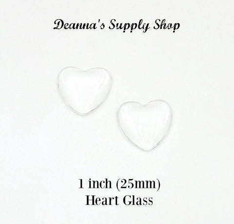 1 inch (25mm) Heart Glass