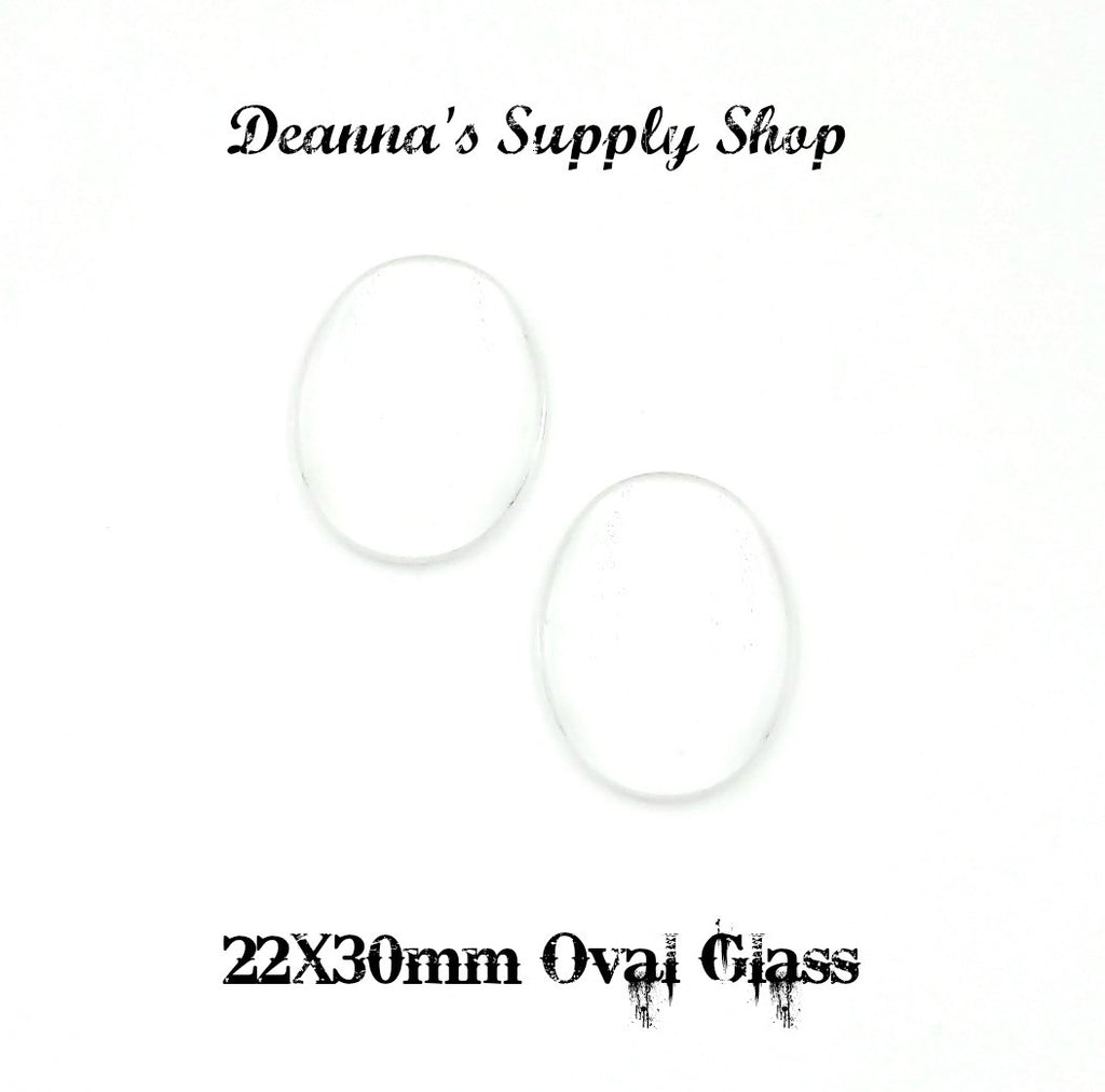 22X30mm Oval Glass