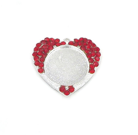 1 inch (25mm) Heart Red Pendant Tray