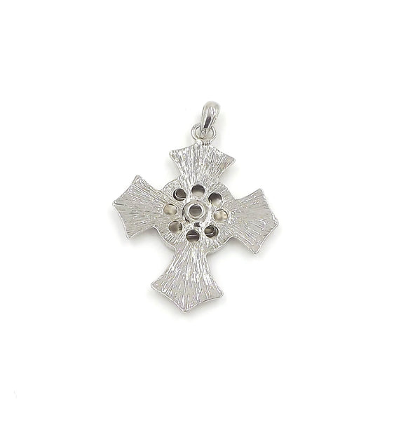 Cross Pendant - FITS 18MM Candy Snap Charm Jewelry Silver