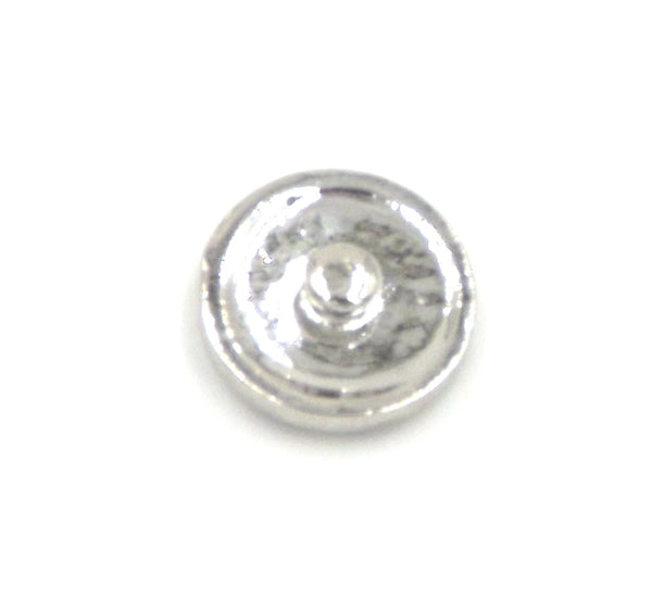 1 antique silver and pink Button- FITS 18MM Candy Snap Charm Jewelry Silver