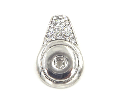 1 Rhinestone Pendant - FITS 18MM Candy Snap Charm Jewelry Silver