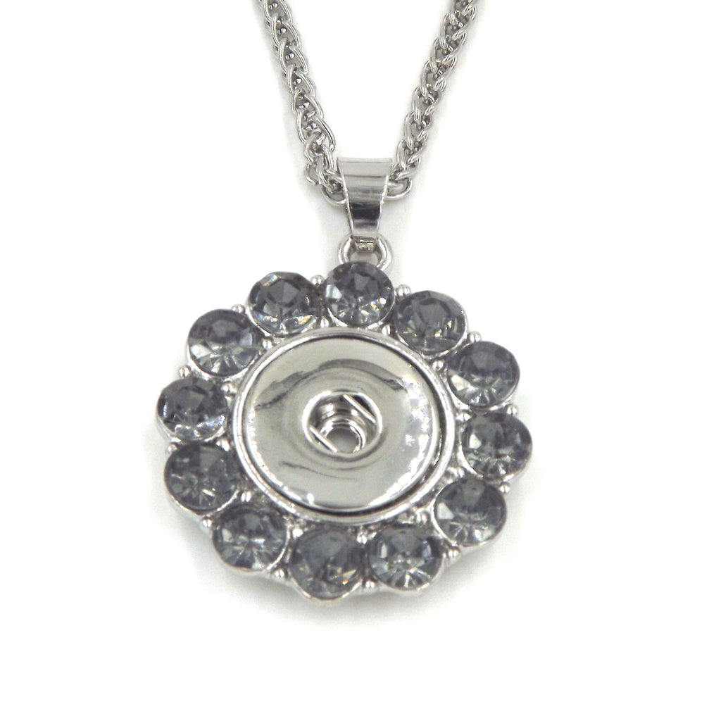 1 pendant necklace - FITS 18MM Snap Snaps Charm Jewelry Silver