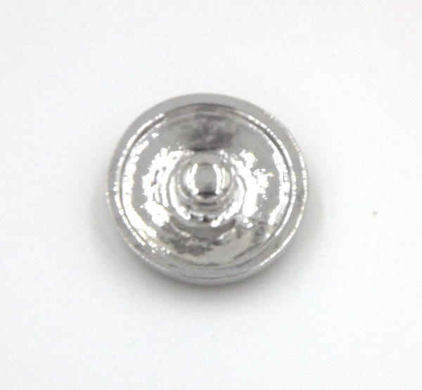 1 antique silver and rhinestone  Button- FITS 18MM Candy Snap Charm Jewelry Silver