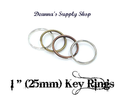1 inch (25mm) Key Rings 4 Different Colors To Choose From