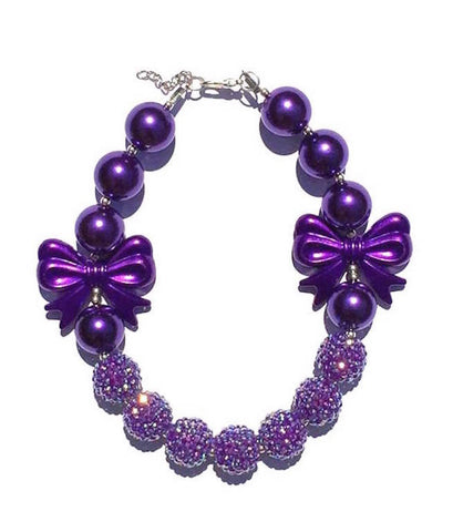 Purple Color Chunky Necklace