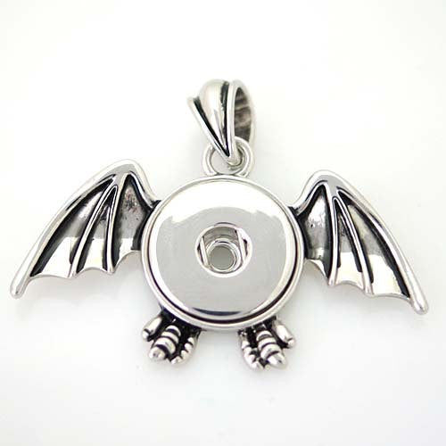 1 Dragon Pendant - FITS 18MM Candy Snap Charm Jewelry Silver