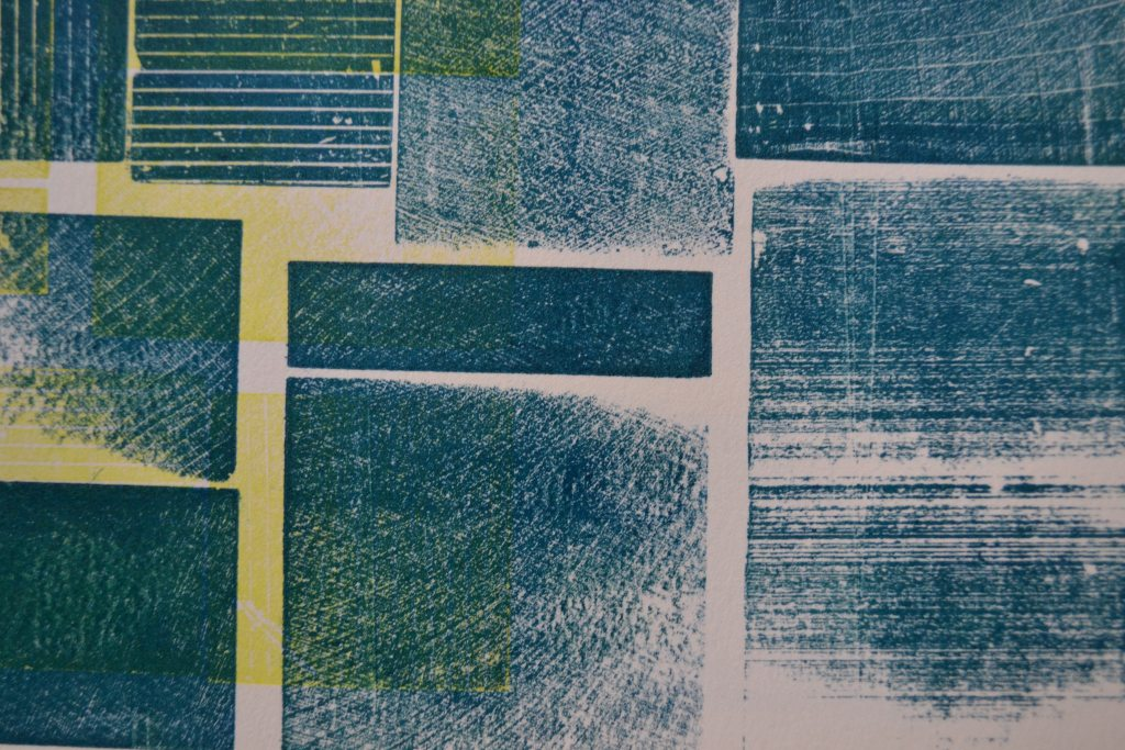 181201|1st December|Monoprint with Letterpress