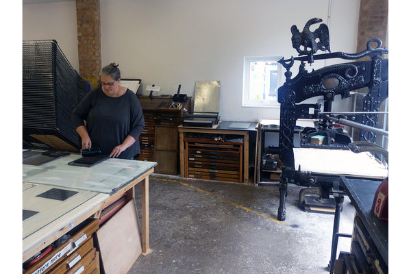 Work Station 3: Columbian Press (for Relief (Lino / Letterpress), Small Scale Monoprint, Drypoint, Collagraph)