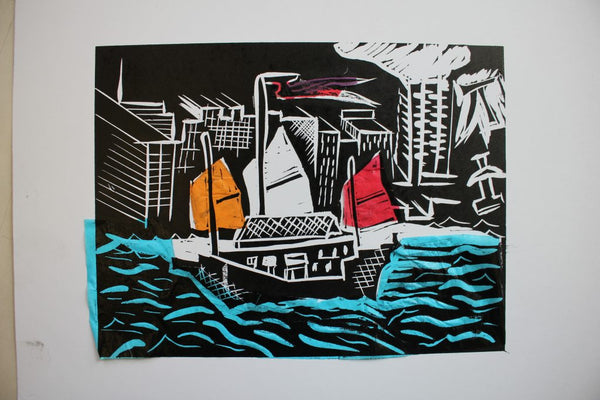 190413|13th April|Introduction to Linocut