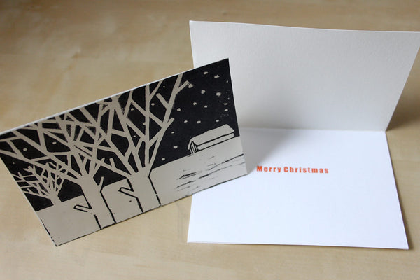 171029a|29th October|Linocut & Letterpress Christmas Cards Morning