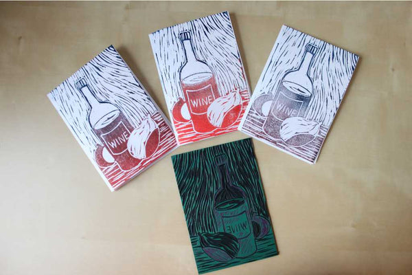 180203a|3rd February|Linocut Card Making Taster