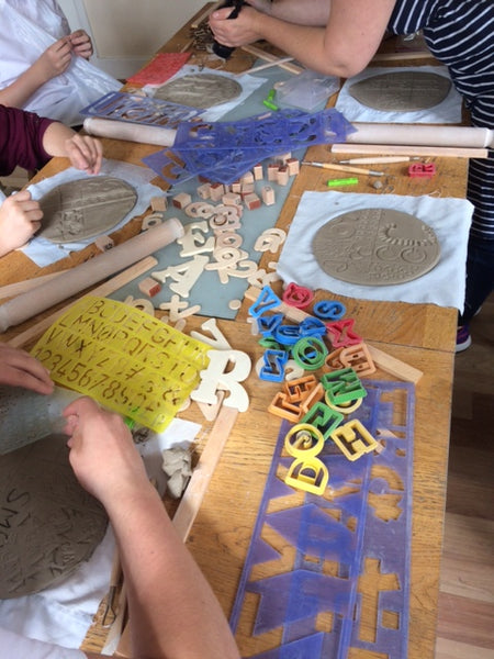 191006a|6th October|Relief Decoration onto Clay for Young People 6 - 11 yrs