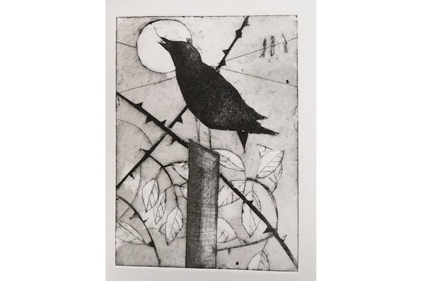 200308|8th March|Sharp Cut & Straight Tear Collagraphs