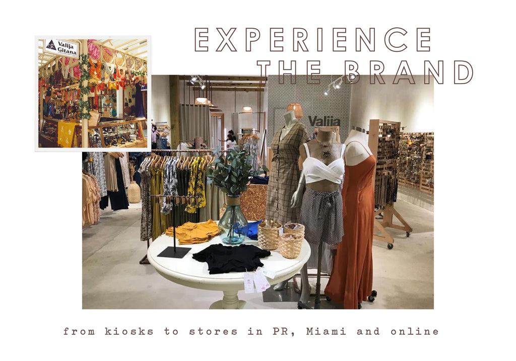 Experience the brand, from kiosks to stores in PR, Miami and Online