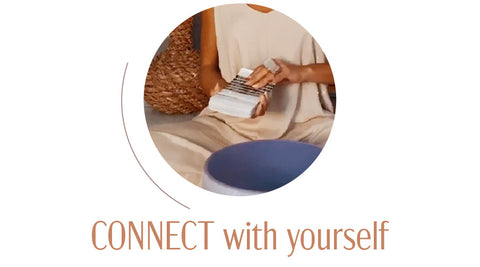 Connect with yourself accompanied by picture of oracle cards