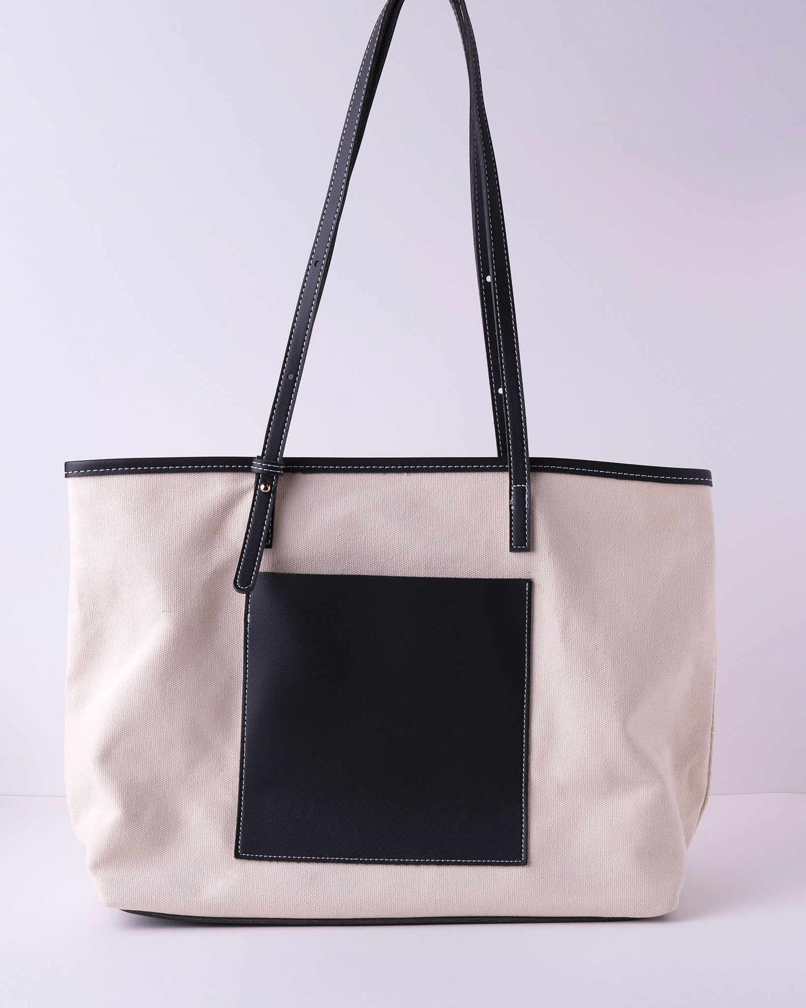 Contrast Canvas Purse