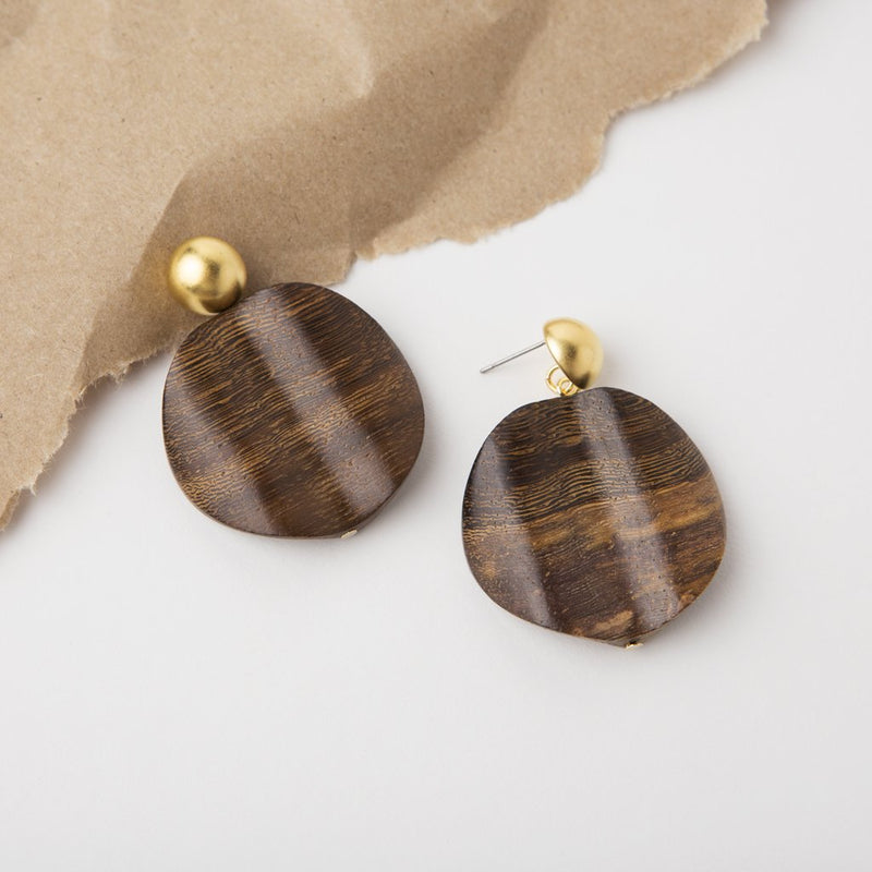 NATURE WOOD EARRING